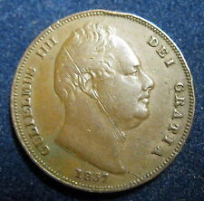 ROYAUME UNI - FARTHING 1837 - ROI WILLIAM IV