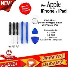 Kit Attrezzi Smontaggio iPhone 4 4S 5 5S 6 6S 7 e Plus, Tool Cacciavite 8 Pezzi