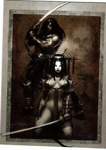 Unframed Art Poster fantasy art gothic samarui warrior couple with swords (k69)