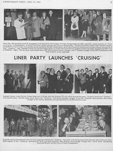 Film Trade Pages (2) Carry On Cruising 1962 Anglo Sidney James Liz Fraser
