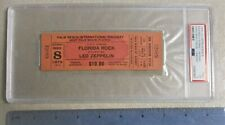 LED ZEPPELIN PSA Graded 1975 Concert Ticket Palm Beach Raceway Phantom Concert