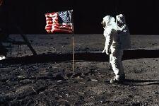 moon astronaut USA flag NASA POSTER 24X36 60's & 70's space program RARE