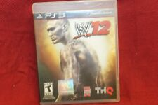 W'12 WWE 2012 Wrestling 2012 Playstation 3 PS3 ~ NO SCRATCHES