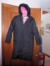 Gently used Arizona youth girls black pink puffer winter parka long size 16 XL