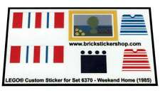 Precut Custom Replacement Sticker voor Lego Set 6370 - Weekend Home (1985)