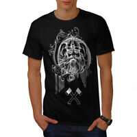 Wellcoda North Viking Warrior Mens T-shirt, Battle Graphic Design Printed Tee