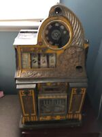 1935 Watling Roll-A-Top antique dime slot machine that works!