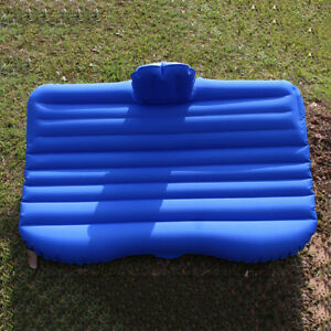 Car Back Seat Mattress Rest Inflatable Bed With Bump and a Pair of Pillow BLUE