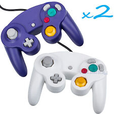 2 Brand New Controller for Nintendo GameCube or Wii -- Blue and  White