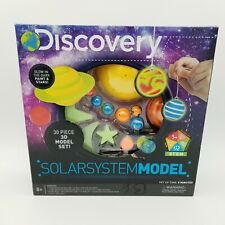 NEW Discovery Kids STEM 30 Piece 3D Model Set Glowing Solar System Planets Model