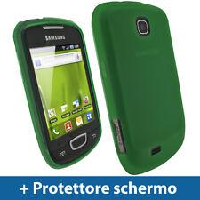 Verde Custodia TPU Gel per Samsung Galaxy Next S5570 Case Cover Rigida