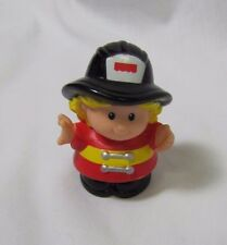 Fisher Price Little People SARAH FIREWOMAN FIREFIGHTER for FIRE Fire Truck Rare!