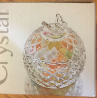 Studio Crystal Butterfly Covered Candy Dish Trinket Box NEW