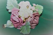 Bridal Bridesmaid Silk Flower Wrist Corsage Wedding Party Rose Bracelet SET OF 6