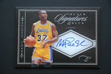 Magic Johnson AUTO ON CARD /10  2010-11 Black Box Black and Blue Signatures