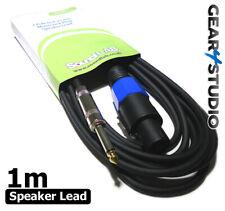 1m Speaker Lead Cable PA Speaker lead 2 Pole SPK-ON to 6.35 Jack Stage DJ Stage