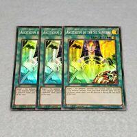 3x Yugioh Asceticism of the Six Samurai SPWA 1st Ed Super Rare Card Playset NM