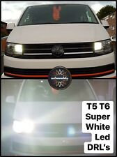 Para VW T5.1 T6 Transporter 2010+ Bombilla LED DRL Faros actualizaciones Kit De Hielo Blanco