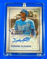 Topps 70 Years of Baseball Edward Olivares Royals RC Auto Rookie Autograph 🔥