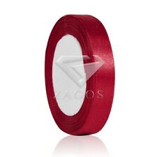 """25 Yards 3/8""""10mm Satin Ribbon Craft Hair Bow Wedding Favor Double sided Red SF"""