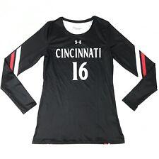 New Under Armour Cincinnati Bearcats Long Sleeve Shirt Jersey Women's M Black