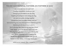 Personalised Gift Poem for Dad, Father: Birthday Xmas. Daddy Uncle Grandad