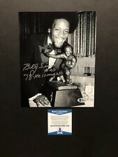 Billy Sims autographed signed 8x10 photo Beckett BAS COA Detroit Lions ROY NFL