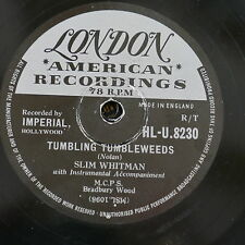 78rpm SLIN WHITMAN tumbling tumbleweeds / tell me