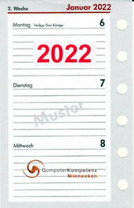 bsb Timeplaner Kalendarium 2022 1Woche=2Seiten A7 Pocket 7,8x12,8cm Multilochung