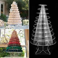 10 Tier Round Macarons Tower Stand Macaron Display Rack Wedding Birthday Decor