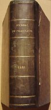 JOURNAL DE PHARMACIE ET DE CHIMIE - 2 TOMES EN 1 VOLUME - 1881