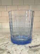 Pasabahce Blue Block Optic Glass Tumbler Double Old Fashioned