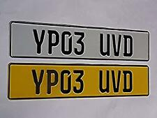 German pressed number plates pair embossed metal aluminium Novelty