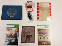 Bioshock Infinite Premium Edition Collectibles NEW Artbook Lithograph Keychain