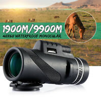 40 x HD Monocular Telescope Day & Night Vision Optical Hunting Camping Hiking