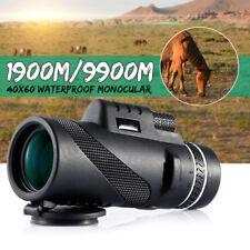 40 x HD Monocular Telescope Day & Night Vision Optical Hunting Camping Hiking !