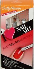 Sally Hansen 3 Pc I Love Nail Art Brush Kit Glitter & Fan Brush & Clean Up Brush