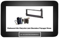 Einbaurahmen + ISO Adapter für Chrysler 300 Cherokee Voyager Neon Radioblende