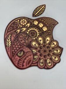 RARE INDIAN Design Genuine Apple Logo Decal Sticker iPhone - iPad - iMac 4x5cm