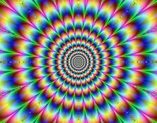 OPTICAL PSYCHEDELIC ILLUSION ,  vinyl wall,car,van decal sticker