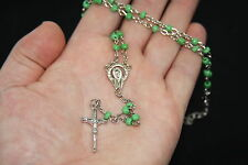 Rosary Beads Necklace Cross Jesus Crucifix Virgin Mary Pendant Chain Mens Womens