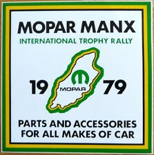 1979 Mopar Manx International Trophy Rally / Motorsport Sticker Decal