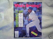 1991 WHAT'S BREWING? Milwuakee Brewers darryl hamilton