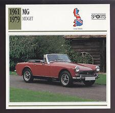 1961-1979 MG Midget M.G. (1972 Mark II) British Car Photo Spec Sheet Info CARD