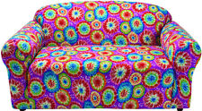 "JERSEY ""STRETCH"" LOVESEAT THROW SLIP COVER-LAZY BOY----TIE DYE---VISIT OUR STORE"