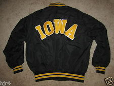 Iowa Hawkeyes College Black Jacket Mens Large L