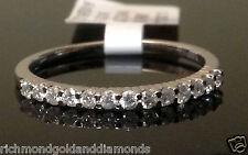 Ladies Womans 13 Diamonds Anniversary Wedding Ring Band White Gold Prong Set