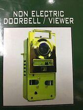 APARTMENT DOOR NON ELECTRIC DOORBELL WIDE ANGLE VIEWER NO. 80 US 3 BRASS