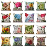 """18"""" Classic Fashion Flower Sofa Car Cushion Cover Decorative Throw Pillow Case"""