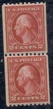 US #442 2¢ carmine, Coil Pair, og, NH, VF, Scott $55.00